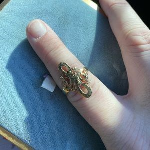 Antique Filigree gold ring marked size 8